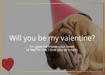 valentine card 46 face person