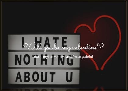 valentine card 55 text light