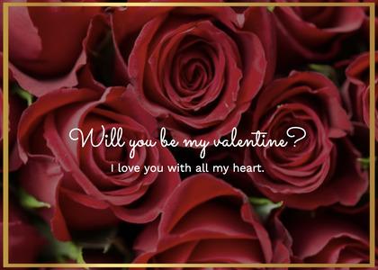 valentine card 56 rose plant