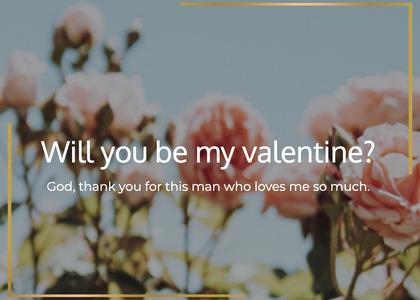 valentine card 58 cotton plant