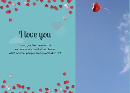 valentine card 67 paper flyer
