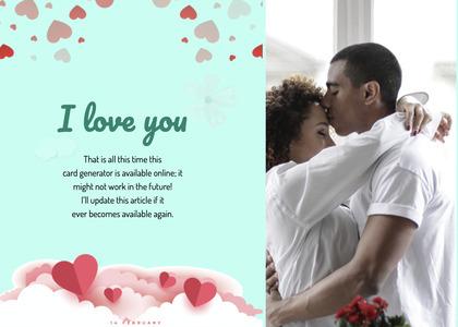 valentine card 69 paper person