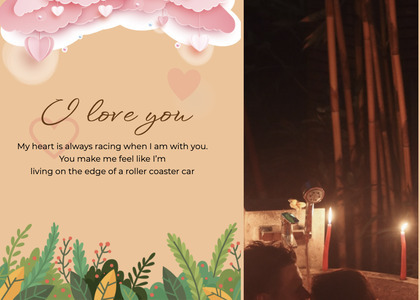 valentine card 72 flyer brochure