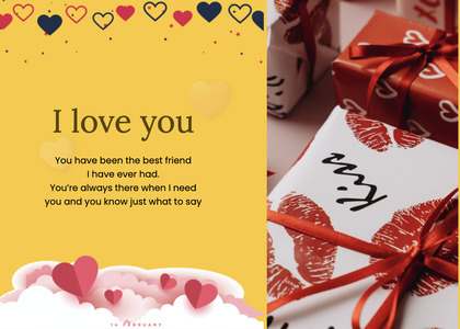 valentine card 75 flyer brochure