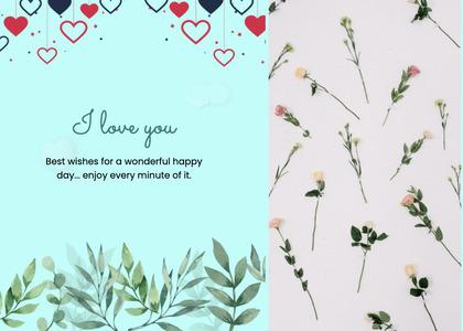 valentine card 76 plant mail