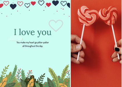 valentine card 77 food candy