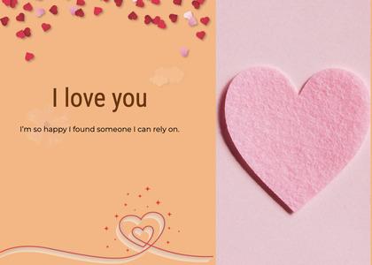 valentine card 78 paper heart