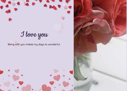 valentine card 79 paper petal