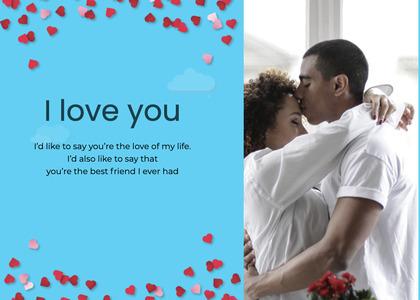 valentine card 82 paper person