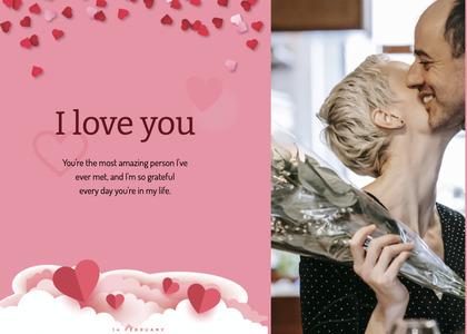valentine card 83 paper person