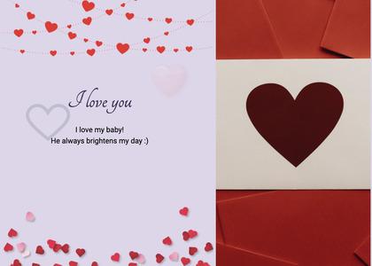 valentine card 90 paper confetti