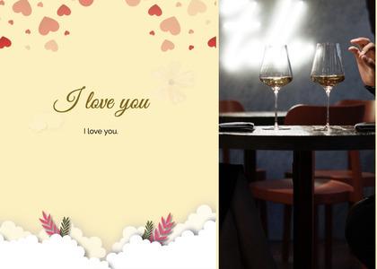 valentine card 91 glass wine
