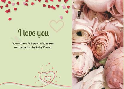 valentine card 94 rose plant