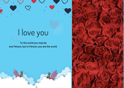 valentine card 96 rug pattern