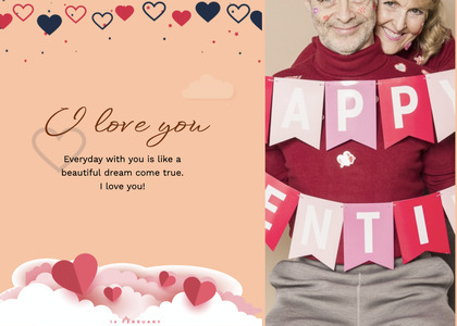 valentine card 97 person human