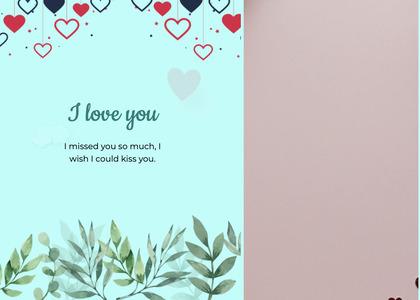 valentine card 98 flyer brochure
