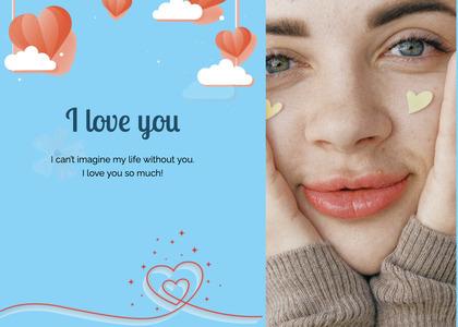 valentine card 99 face person