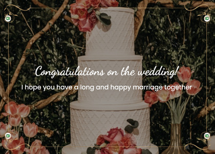 wedding card 104 cake dessert