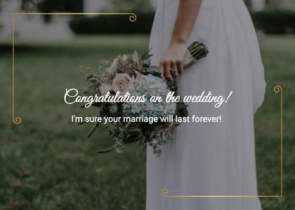 wedding card 105 person plant