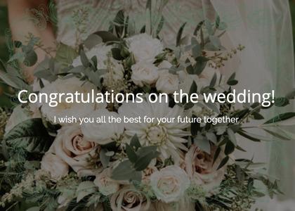 wedding card 106 plant flower