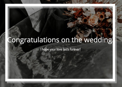 wedding card 108 plant clothing