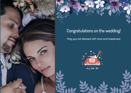 wedding card 110 person face