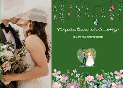 wedding card 119 clothing person