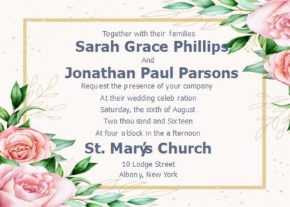wedding card 13 flyer paper