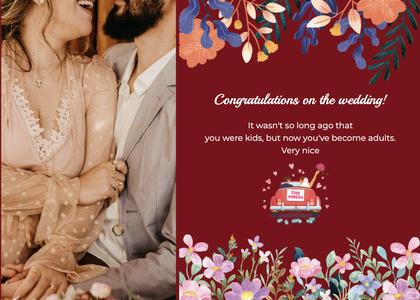 wedding card 132 person advertisement