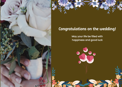 wedding card 140 plant flower