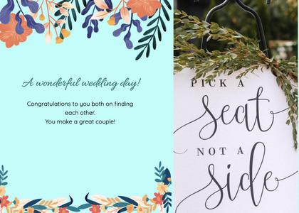 wedding card 155 text flyer