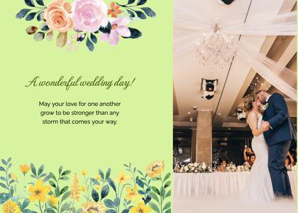 wedding card 156 person floraldesign
