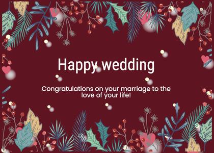 wedding card 16 envelope mail
