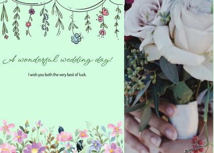 wedding card 178 envelope floraldesign