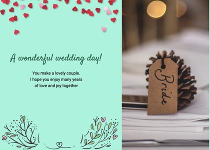 wedding card 179 text paper