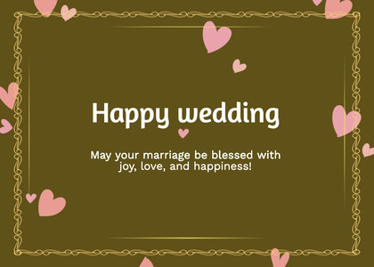 wedding card 18 text business card