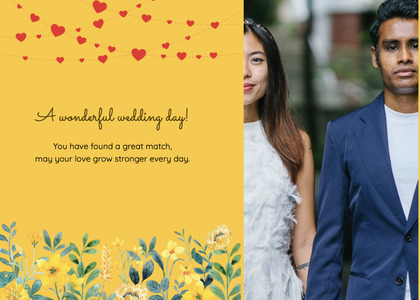 wedding card 181 person suit