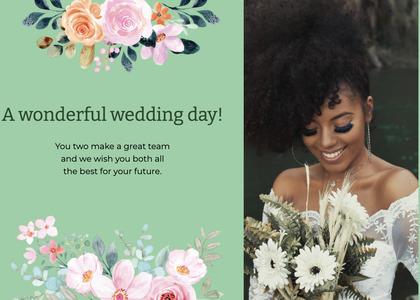 wedding card 182 person hair
