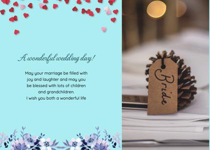 wedding card 187 paper text