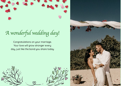 wedding card 188 clothing person