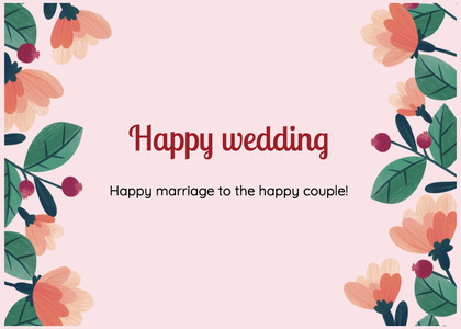 wedding card 193 floraldesign art