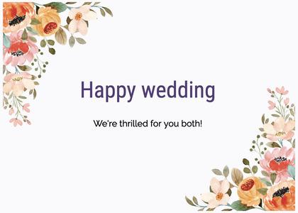 wedding card 195 floraldesign graphics