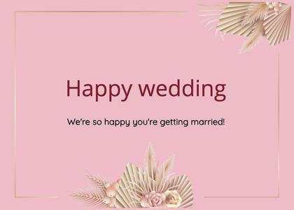 wedding card 197 text animal