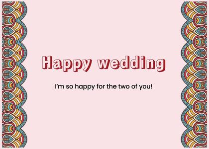 wedding card 198 text face