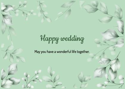 wedding card 199 floraldesign graphics