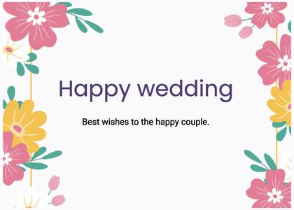 wedding card 201 floraldesign graphics