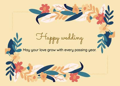 wedding card 203 floraldesign graphics