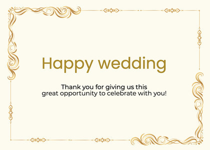 wedding card 205 text page