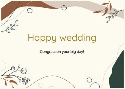 wedding card 206 floraldesign graphics