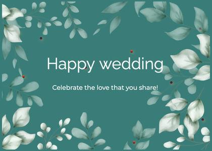 wedding card 24 graphics art